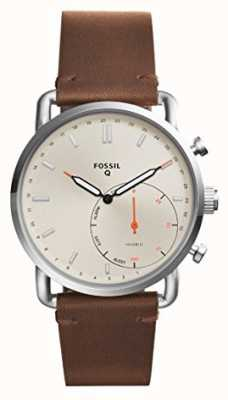 Fossil Heren q lederen band voor forens FTW1150