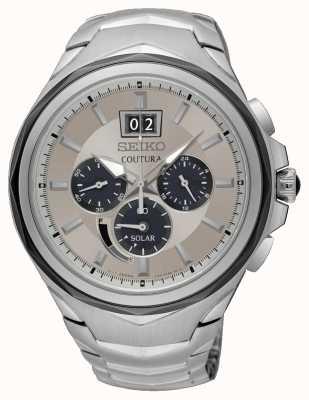 Seiko Heren coutura chronograaf datum display roestvrij staal SSC627P9