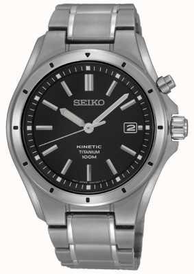 Seiko Titanium zwarte wijzerplaat datumweergave voor heren SKA763P1