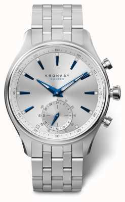 Kronaby 41mm sekel zilveren wijzerplaat roestvrij stalen armband A1000-3121