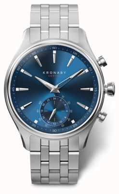 Kronaby 41mm sekel blauwe wijzerplaat roestvrij stalen armband A1000-3119