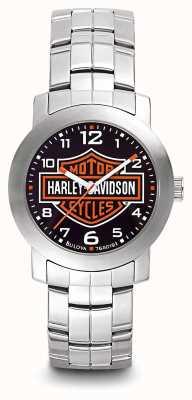 Harley Davidson Herenlogo wijzerplaat roestvrij stalen armband 76A019