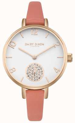 Daisy Dixon Dames alice crystal set subdial roze lederen band DD0750RG