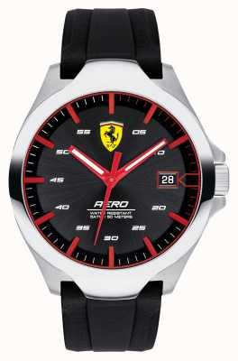 Scuderia Ferrari Anero-datum display voor heren zwarte wijzerplaat siliconen band 0830506