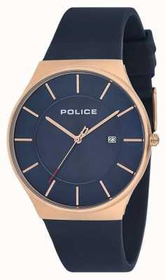 Police Herenhorloge van new horizon siliconen band blauw 15045JBCR/03P