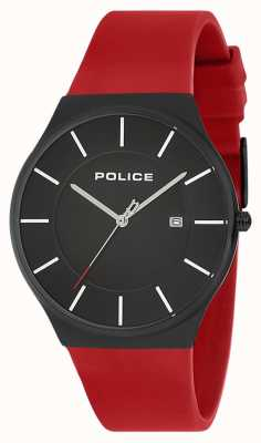 Police Herenhorloge van new horizon siliconen band rood 15045JBCB/02PB