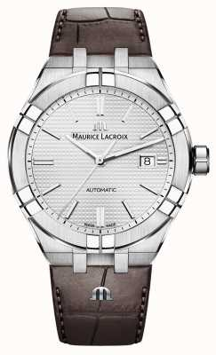 Maurice Lacroix Aikon automatisch bruin lederen horloge AI6008-SS001-130-1