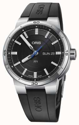 Oris Williams tt1 day date zwarte rubberen band 01 735 7752 4154-07 4 24 06FC