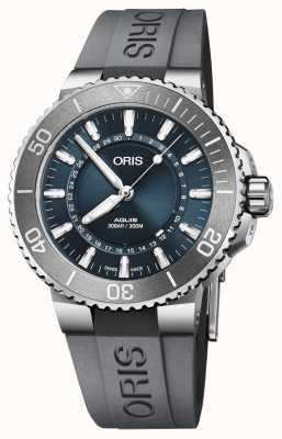 Oris Source of life heren aquis limited edition blauwe wijzerplaat rubber 01 733 7730 4125-SET RS