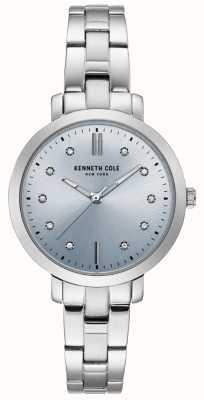 Kenneth Cole Damessluiting van edelstaal en armbandhorloge van roestvrij staal KC15173004