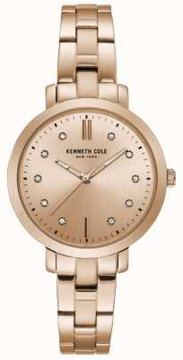 Kenneth Cole Dames diamant set rosé gouden kast rosé gouden armband horloge KC15173005