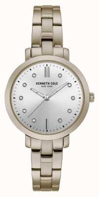 Kenneth Cole Dames diamant gezet gouden kast gouden armband horloge KC15173006