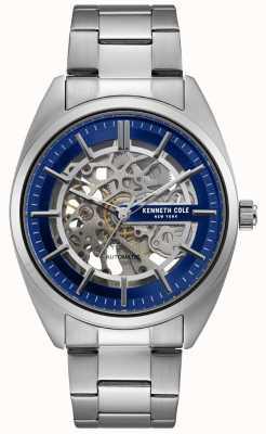 Kenneth Cole Heren skeleton wijzerplaat roestvrij stalen armband horloge KC50064003
