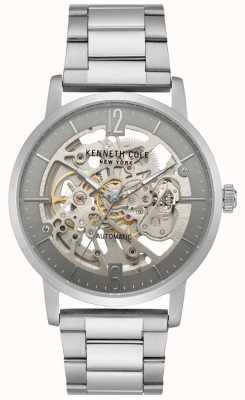 Kenneth Cole Heren skeleton wijzerplaat roestvrij stalen armband horloge KC50054005