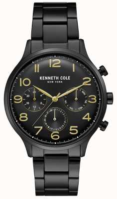 Kenneth Cole Zwart pvd chronograafhorloge voor heren KC15185001