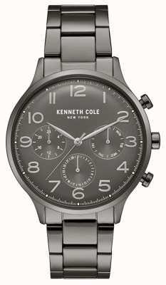 Kenneth Cole Heren gunmetal pvd vergulde chronograaf horloge KC15185002