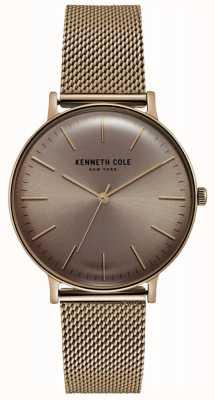 Kenneth Cole Roestvrijstalen rose goudkleurige mesh horloge KC15183002