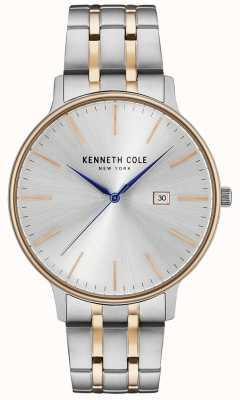 Kenneth Cole Zilver en roségoud roestvrij stalen horloge KC15095003