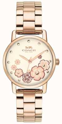 Coach Dames grand rose vergulde horloge 14503057