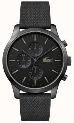 Lacoste Mens 12.12 85-jarig jubileum triple zwart horloge 2010947
