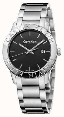 Calvin Klein Stabiele roestvrij stalen zwarte wijzerplaat K7Q21141