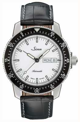 Sinn 104 st sa iw classic pilot horloge alligator reliëf leer 104.012 BLACK EMBOSSED LEATHER