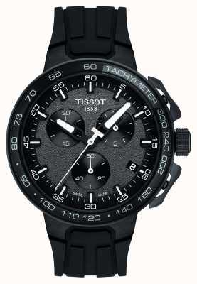 Tissot Heren t-racefiets chronograaf zwart siliconen band T1114173744103