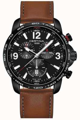 Certina Heren sport ds podium precidrive chrono bruin lederen band C0016473605700