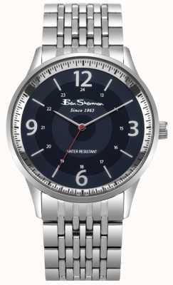 Ben Sherman Herenhorloge blauw wijzerplaat roestvrij stalen armband BS001USM