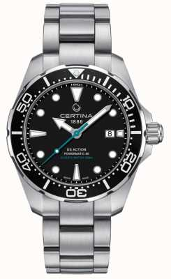 Certina Mens ds actie duikers powermatic 80 zeeschildpad conservancy C0324071105110