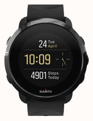 Suunto 3 fitness volledig zwarte rubberen band SS050020000