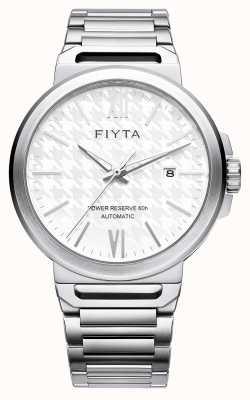 FIYTA Solo automatische roestvrijstalen witte wijzerplaat saffier GA852000.WWW