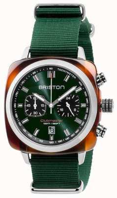 Briston Clubmaster sport pictogrammen groene riem 17142.SA.TS.10.NBG