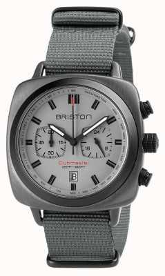 Briston Clubmaster sport nato strap grijs 18142.SPG.SP.12.NG
