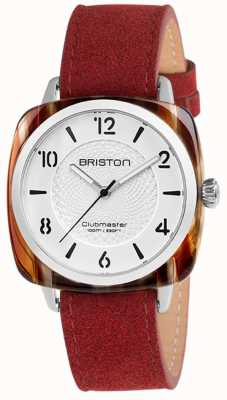 Briston Clubmaster chic rode band witte wijzerplaat 18536.SA.RE.2G.LNR