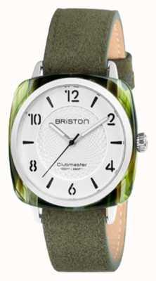 Briston Clubmaster chic witte wijzerplaat groene band 18536.SA.GE.2G.LNGA