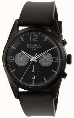 Kahuna Zwart chronograaf wijzerplaat zwart rubberen band heren KCS-0010G