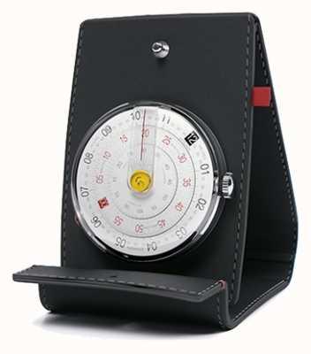 Klokers Klok 01 zwart horloge op het bureau en zak KLOK-01-D2+KPART-01-C2