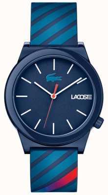 Lacoste Unisex-beweging horloge blauwe rubberen band 2010934
