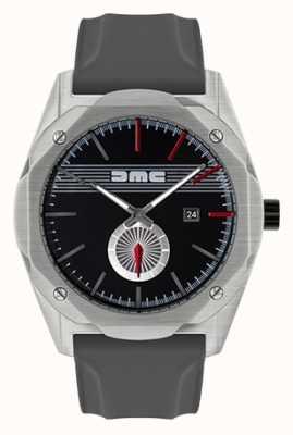 DeLorean Motor Company Watches De zwarte grijze wijzerplaat van de grijze grijze armband met vooruitstekende opening DMC-5