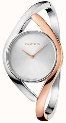 Calvin Klein Damesfeest tweekleurig roségouden roestvrijstalen horloge K8U2SB16