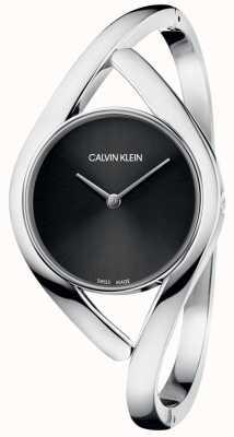 Calvin Klein Dames armband horloge partij zwarte wijzerplaat K8U2M111