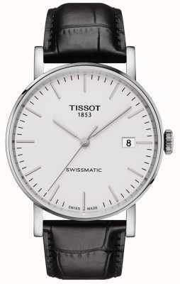 Tissot Heren everytime swissmatic automatische zwarte lederen band T1094071603100