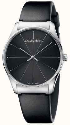 Calvin Klein Zwarte lederen wijzerplaat in de kleur zwart K4D211CY