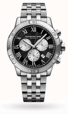 Raymond Weil Heren tango chronograaf roestvrij stalen zwarte wijzerplaat 8560-ST-00206
