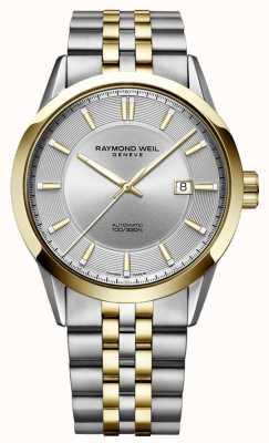 Raymond Weil Mens freelancer automatische tweekleurige armband zilveren wijzerplaat 2731-STP-65001
