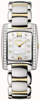 EBEL Damesbrasilia tweekleurige 18 k geelgouden diamanten set 1215769