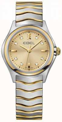 EBEL Diamanten champagne dames wijzerplaat tweekleurig geel goud en zilver 1216317