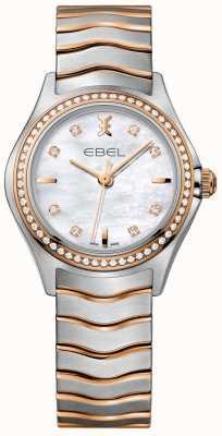 EBEL Diamantgolf parelmoeren wijzerplaat tweekleurige armband 1216325