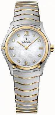 EBEL Dames sport klassieke diamanten parelmoer wijzerplaat tweekleurig 1216388A